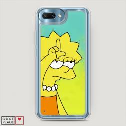Жидкий неоновый чехол Симпсоны Лиза лузер на Huawei Honor 10