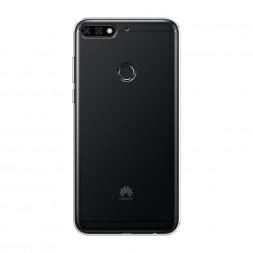 Силиконовый чехол без принта на Huawei Y7 Prime 2018