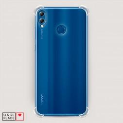 Противоударный силиконовый чехол Прозрачный на Huawei Honor 8X