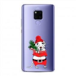 Силиконовый чехол Новогодняя крыска на Huawei Mate 20X