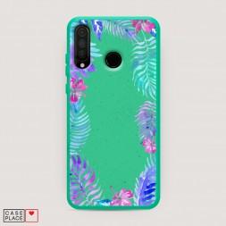 Эко-чехол Пальмовые ветви арт на Huawei P30 Lite