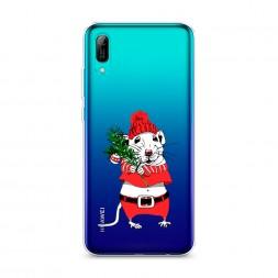 Силиконовый чехол Новогодняя крыска на Huawei Y6 Pro (Prime) 2019