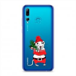 Силиконовый чехол Новогодняя крыска на Huawei P Smart Plus 2019
