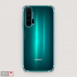 Противоударный силиконовый чехол Прозрачный на Huawei Honor 20 Pro