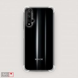 Противоударный силиконовый чехол Прозрачный на Huawei Honor 20