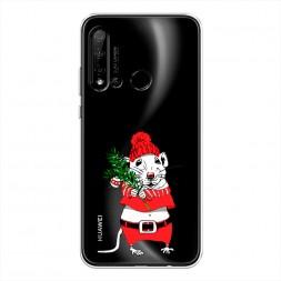 Силиконовый чехол Новогодняя крыска на Huawei P20 lite 2019