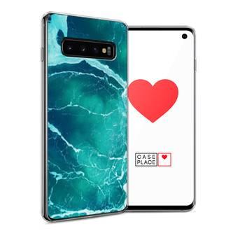 Силиконовый чехол Изумрудный океан на Samsung Galaxy S10