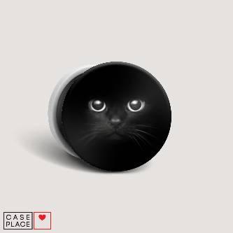 Попсокет с картинкой Взгляд черной кошки