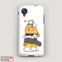 Пластиковый чехол Бутерброд из котиков на LG Nexus 5