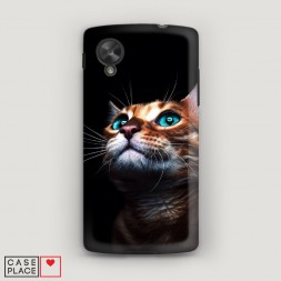 Пластиковый чехол Мечтательный кот на LG Nexus 5
