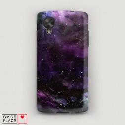 Пластиковый чехол Космос фиолетовый на LG Nexus 5