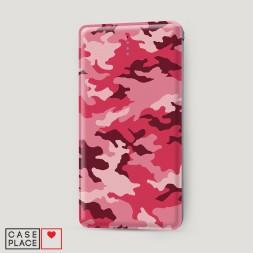 Внешний аккумулятор 10000 mAh Розовый камуфляж