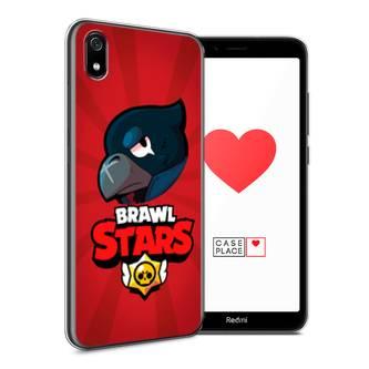 Силиконовый чехол Crow Brawl Stars на Xiaomi Redmi 7A