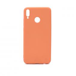 Силиконовый персиковый чехол Soft Touch для Huawei Honor 8x