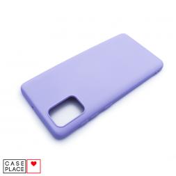 Силиконовый сиреневый чехол Soft Touch для Samsung Galaxy A71