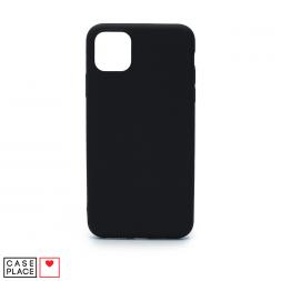 Силиконовый черный чехол Soft Touch для iPhone 11 Pro Max