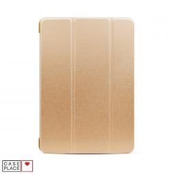 Чехол-книжка для планшета iPad 2019 (10.2)/iPad Pro 10.5 (2017)/iPad Air 3 (2019) золотой с силиконовой основой