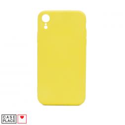 Силиконовый лимонный чехол Soft Touch для iPhone XR
