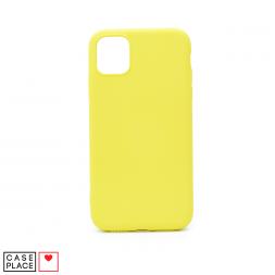 Силиконовый лимонный чехол Soft Touch для iPhone 11