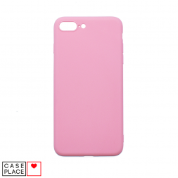 Силиконовый матовый розовый чехол для iPhone 7 Plus/8 Plus