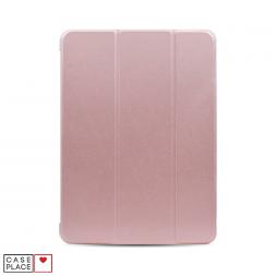 Чехол-книжка для планшета iPad Air 4 (2020) розовое золото с силиконовой основой