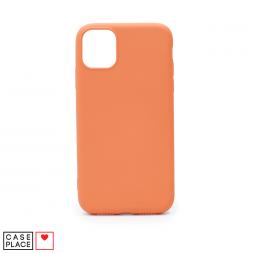 Силиконовый персиковый чехол Soft Touch для iPhone 11