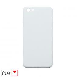 Силиконовый матовый белый чехол для iPhone 6 Plus/6S Plus