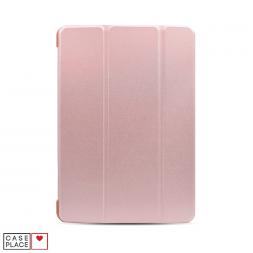 Чехол-книжка для планшета iPad 2019 (10.2)/iPad Pro 10.5 (2017)/iPad Air 3 (2019) розовое золото с силиконовой основой