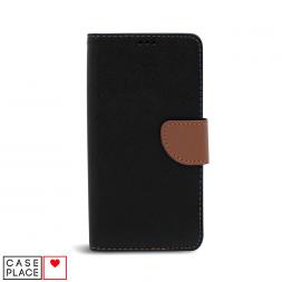Универсальный чехол-книжка для смартфона 6,7 черный