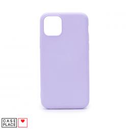 Силиконовый сиреневый чехол Soft Touch для iPhone 11 Pro