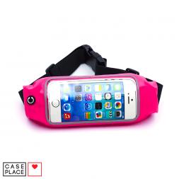 Розовый чехол для телефона на пояс