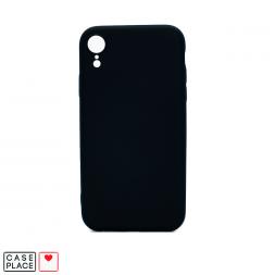 Силиконовый черный чехол Soft Touch для iPhone XR