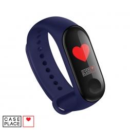 Ремешок для часов Xiaomi Mi Band 3/Mi Band 4 темно-синий