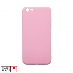 Силиконовый матовый розовый чехол для iPhone 6 Plus/6S Plus