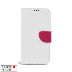 Универсальный чехол-книжка для смартфона 6 белый