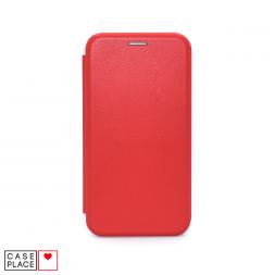 Чехол-книжка из кожи PU для iPhone X/XS красный