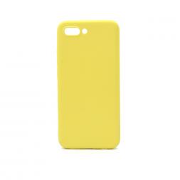 Силиконовый лимонный чехол Soft Touch для Huawei Honor 10