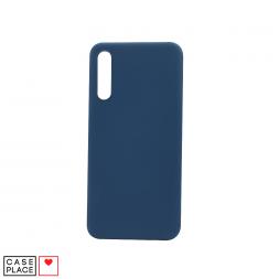 Силиконовый серо-синий чехол Soft Touch для Samsung Galaxy A50/A30s