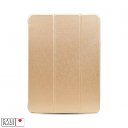 Чехол-книжка для планшета iPad Air 4 (2020) золотой с силиконовой основой