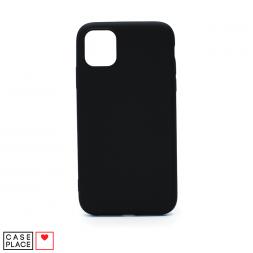 Силиконовый черный чехол Soft Touch для iPhone 11
