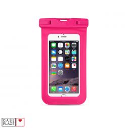 Водонепроницаемый чехол для телефона розовый