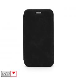 Чехол-книжка из кожи PU для iPhone 11 черный мрамор