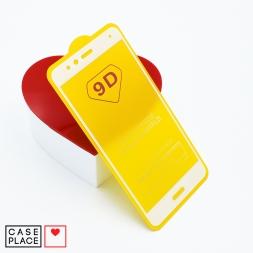 Защитное 3D стекло для Huawei Honor 8 белое