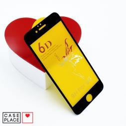Защитное 3D стекло для iPhone 6/6S черное