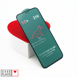 Защитное 3D стекло для iPhone 12/12 Pro черное
