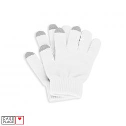 Сенсорные перчатки белые для экрана телефона