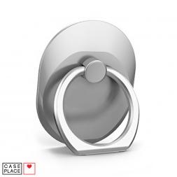 Кольцо-держатель для телефона серебристое