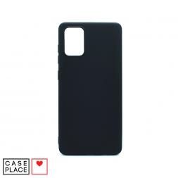 Силиконовый черный чехол Soft Touch для Samsung Galaxy A71