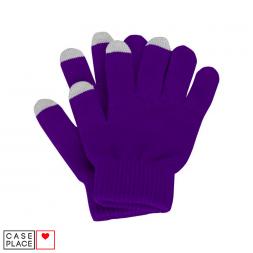 Сенсорные перчатки фиолетовые для экрана телефона