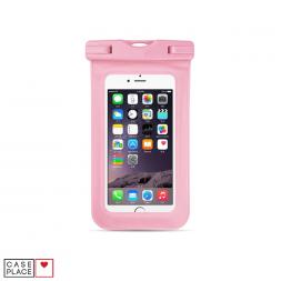 Водонепроницаемый чехол для телефона светло-розовый